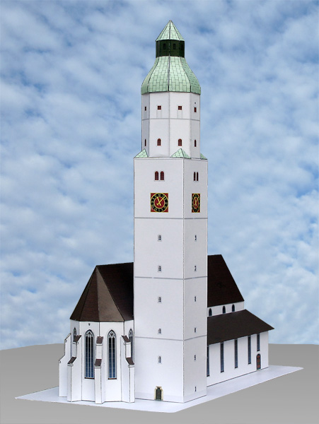 Church of Saint Martin Papercraft Langenau